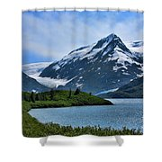 Glacier Alaska Lake  Shower Curtain