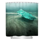 Glacier Beach Shower Curtain