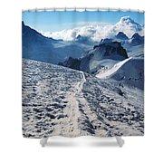 Glacier Blanche  Shower Curtain