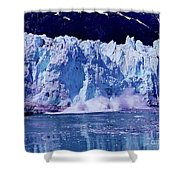 Glacier - Calving - Reflection Shower Curtain