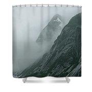 Glacier-carved Mountainside Alaska Shower Curtain