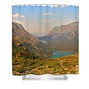 Glacier Chain Of Lakes Shower Curtain