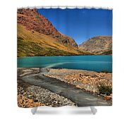 Glacier Cracker Lake Shower Curtain