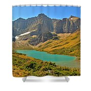 Glacier Cracker Lake Panorama Shower Curtain