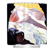 Glacier De Bionnassay, Railway, France Shower Curtain