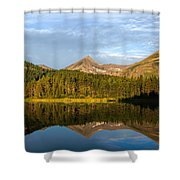 Glacier - Fishercap - Reflection Shower Curtain