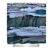 Glacier Iceberg Panorama Shower Curtain