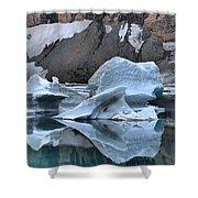 Glacier Iceberg Reflections Shower Curtain