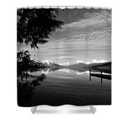 Glacier In Black And White Shower Curtain