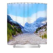 A Glacier In Mt. Rainier Shower Curtain