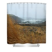 Glacier In The Distance Shower Curtain