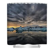 Glacier Lagoon Shower Curtain