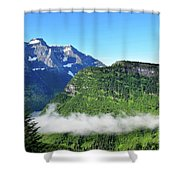 Glacier Mountain Above The Fog Shower Curtain