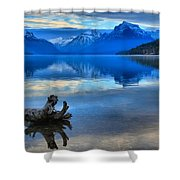 Glacier Mountain Reflections Shower Curtain