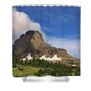 Glacier National Park At Logan Pass Shower Curtain