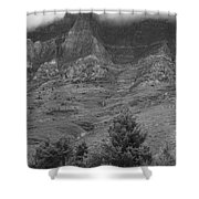 Glacier National Park Montana Vertical Shower Curtain