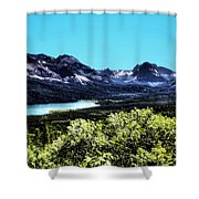 Glacier National Park Views Panorama No. 01 Shower Curtain