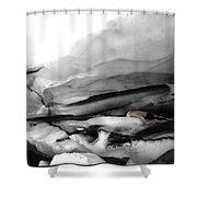Glacier Nude Shower Curtain by Wayne King