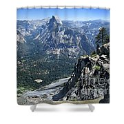 Glacier Point Panorama - Yosemite Valley Shower Curtain
