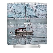 Glacier Sailing Shower Curtain