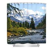 Glacier Stream Shower Curtain