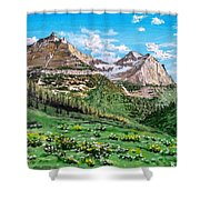 Glacier Summer Shower Curtain