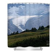 Glacier Tongue Scours The Valley Far Below Shower Curtain