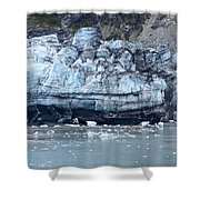 Glacier With Kayakers Shower Curtain
