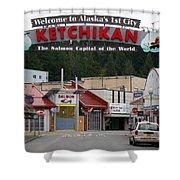 Ketchikan Alaska's First City  Shower Curtain
