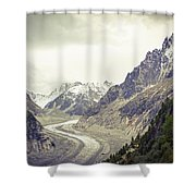 Glacierway Shower Curtain