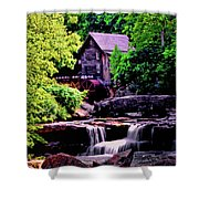 Glade Creek Grist Mill 004 Shower Curtain