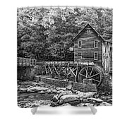 Glade Creek Grist Mill 2 Bw Shower Curtain