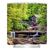 Glade Creek Grist Mill 3 - Paint Shower Curtain