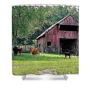 Gladeville Farm Shower Curtain