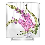 Gladiolus Pink Shower Curtain