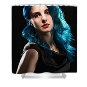 Glamorous Hollywood Style Woman Shower Curtain