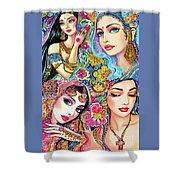 Glamorous India Shower Curtain