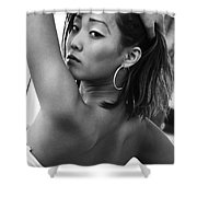 Glancing Grace Shower Curtain