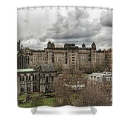 Glasgow Cathedral And Victoria Infirmary Shower Curtain