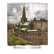 Glasgow Cathedral From The Necropolis Shower Curtain