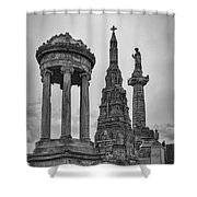 Glasgow Necropolis Graveyard Memorials Shower Curtain