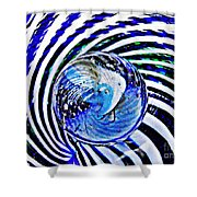 Glass Abstract 109 Shower Curtain