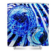 Glass Abstract 110 Shower Curtain