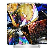 Glass Abstract 114 Shower Curtain