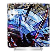 Glass Abstract 219 Shower Curtain