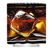 Glass Abstract 317 Shower Curtain