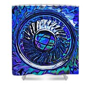 Glass Abstract 480 Shower Curtain