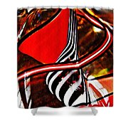 Glass Abstract 500 Shower Curtain