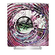 Glass Abstract 515 Shower Curtain