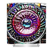 Glass Abstract 516 Shower Curtain